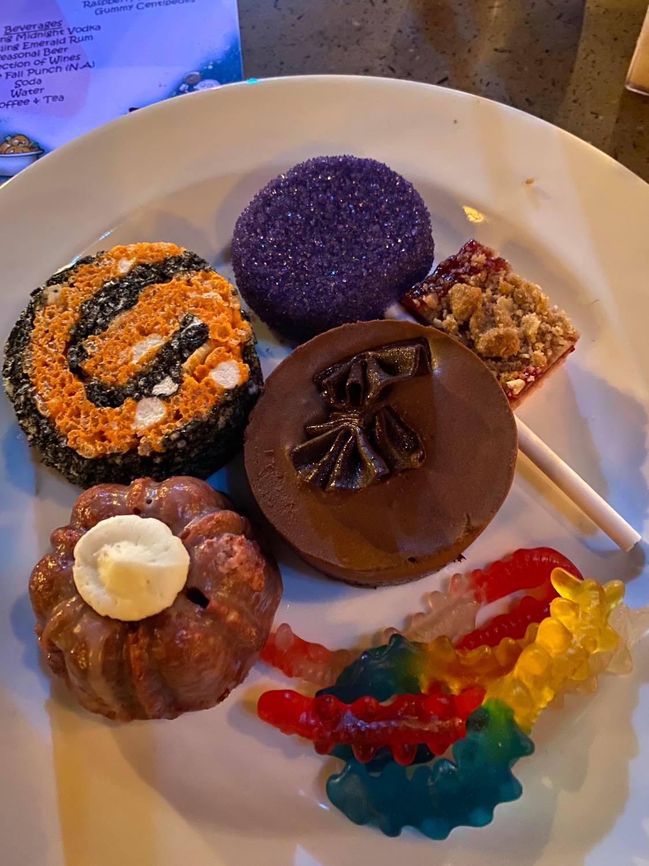 Oogie Boogie dessert party dessert plate