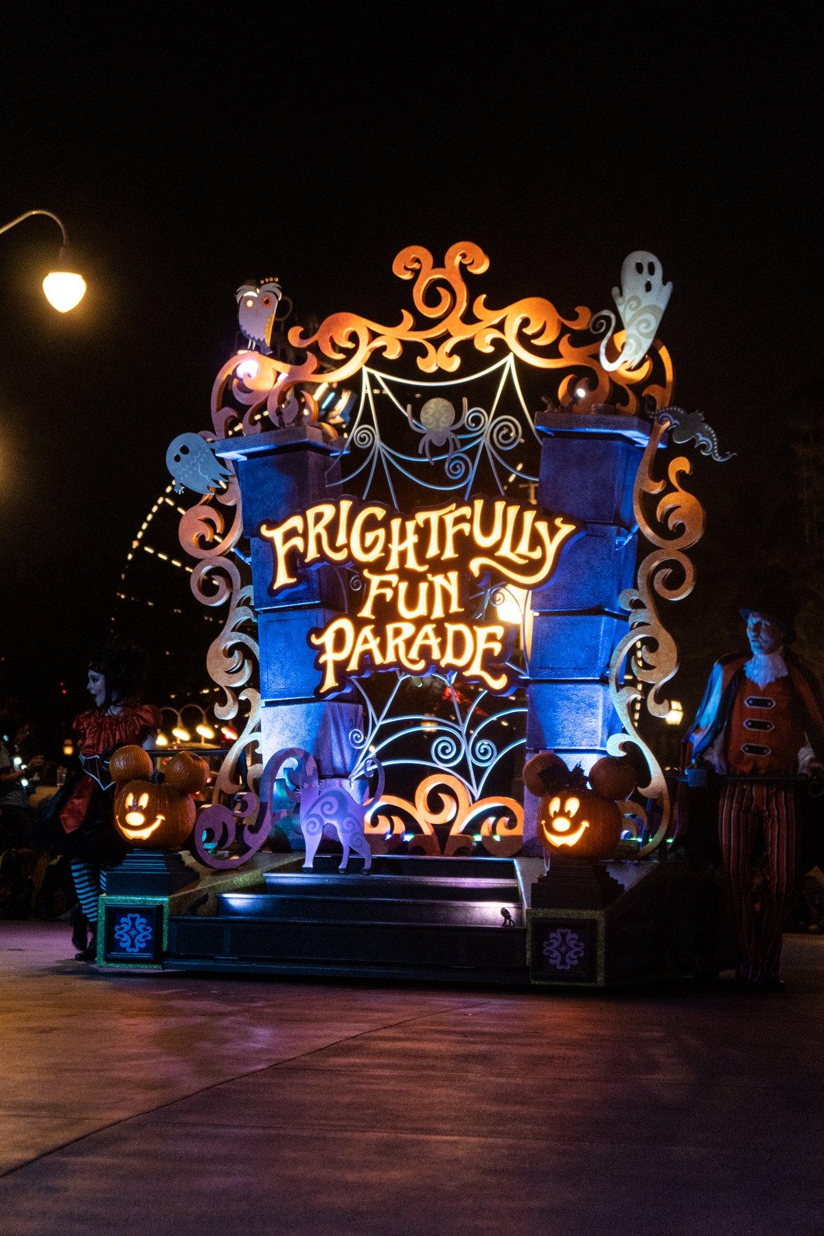 Disneyland Halloween parade float