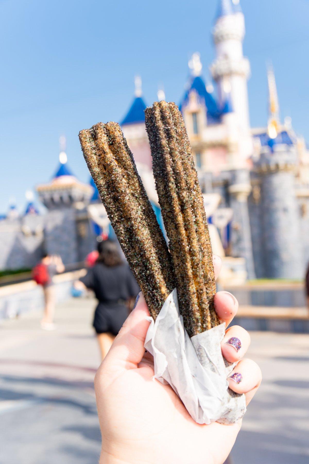 Maleficent churro in Disneyland