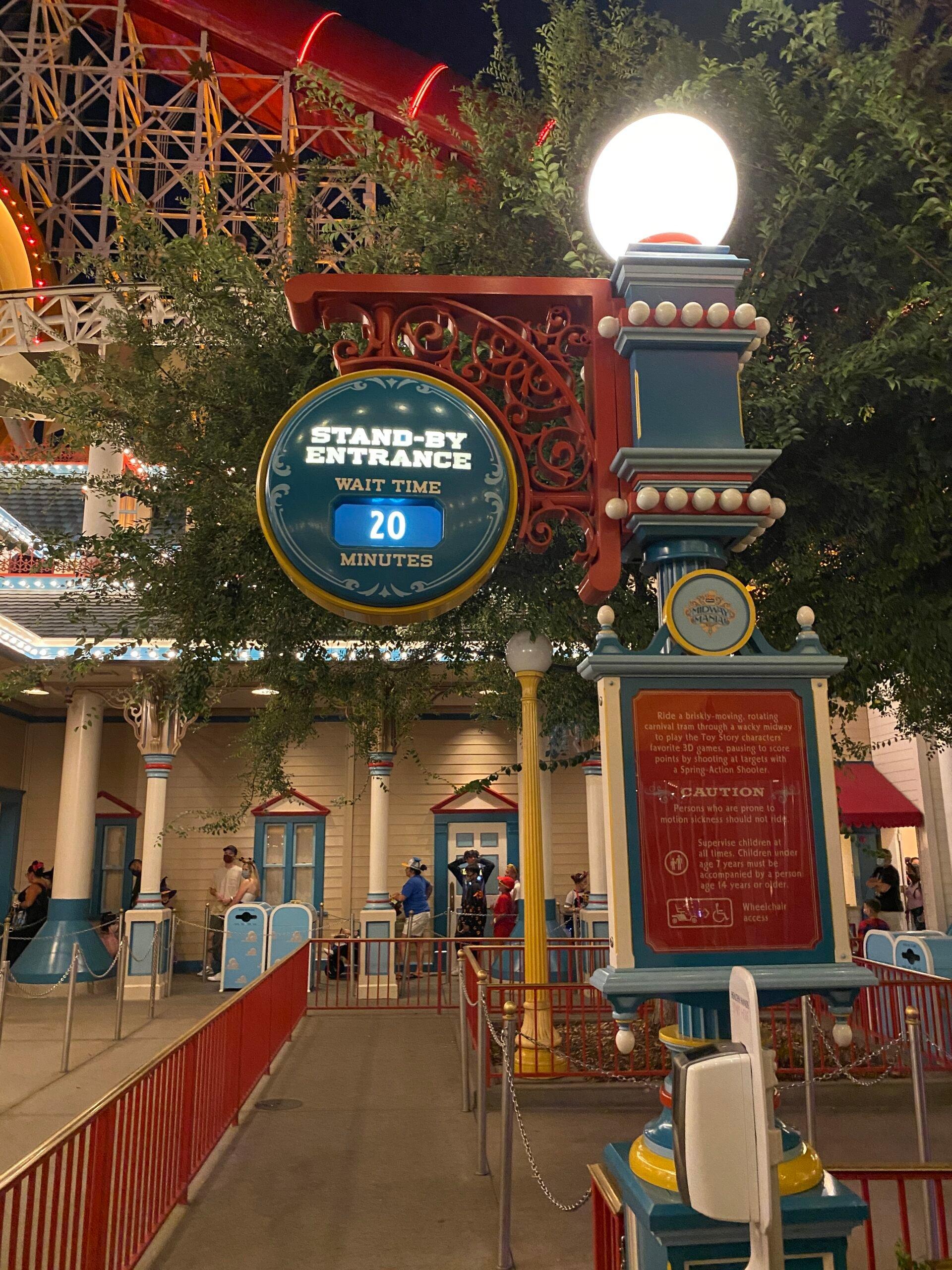 line wait time at Disneyland