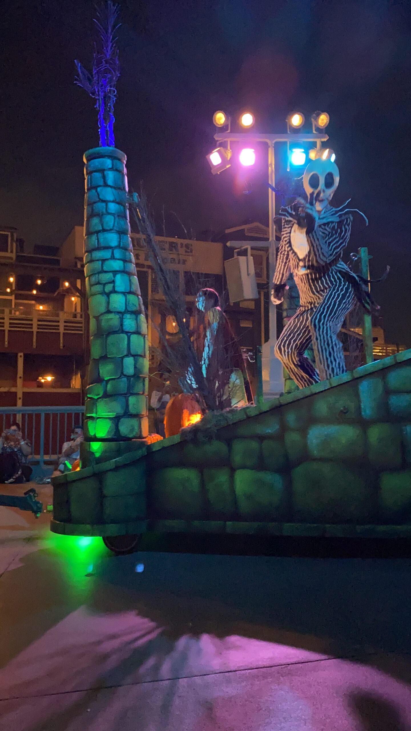 Jack Skellington float during Disneyland Halloween parade
