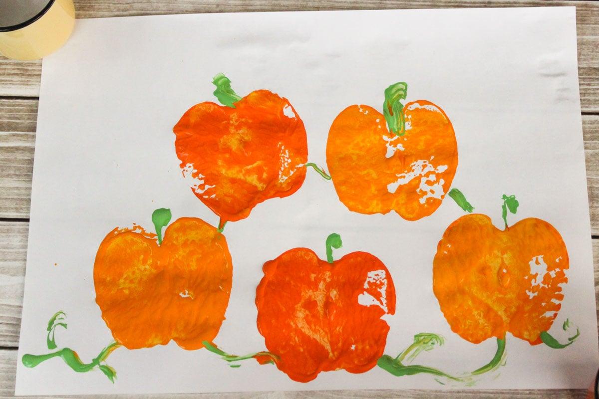 pumpkin patch painting