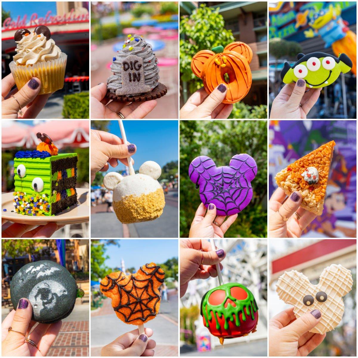 collage of Disneyland Halloween treats