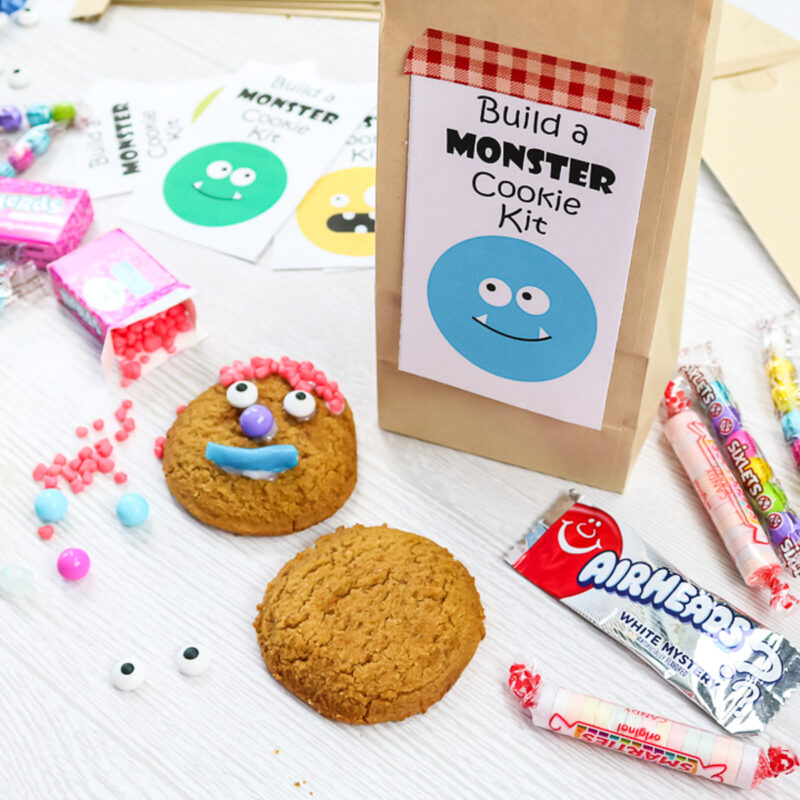 bag with monster cookies