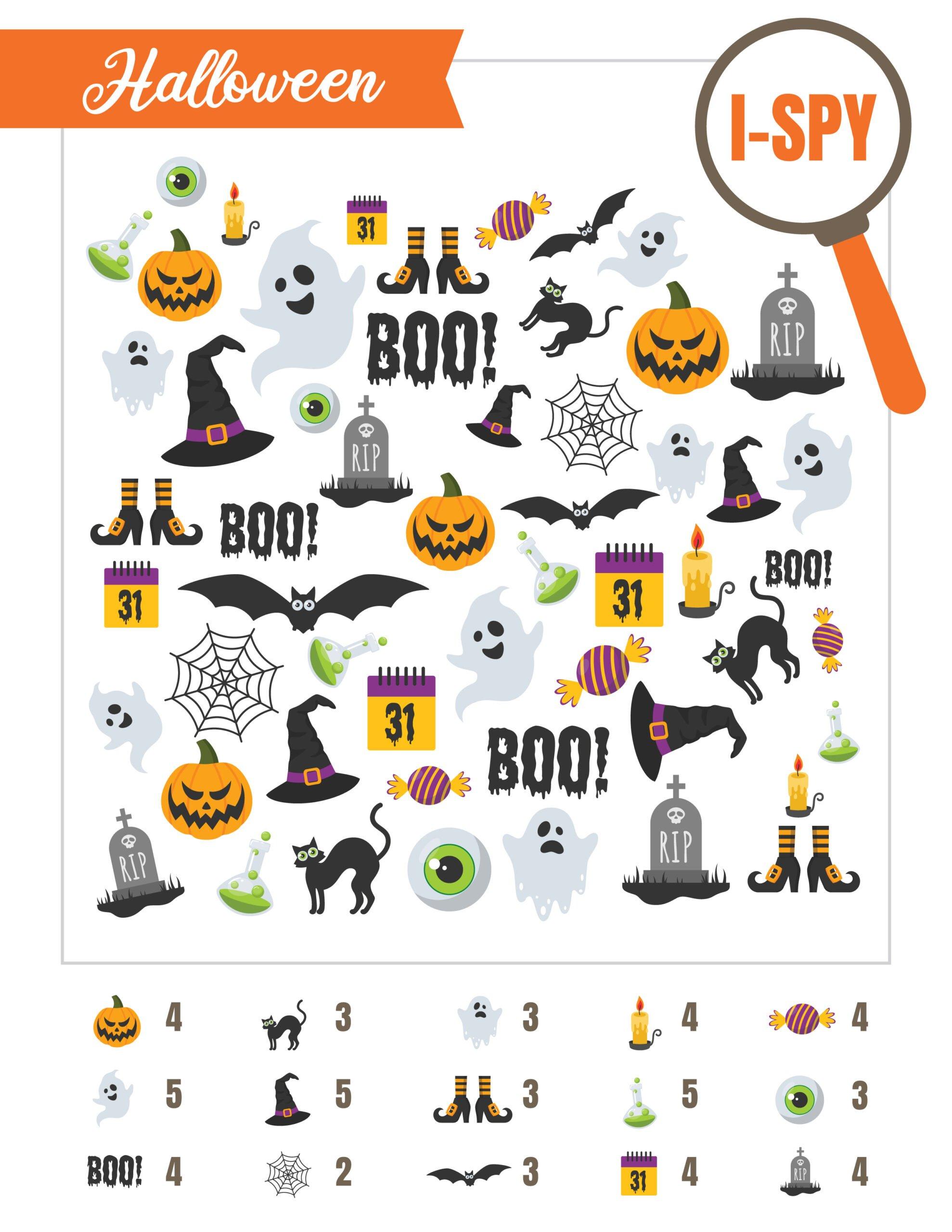 Printable Halloween i-spy sheet