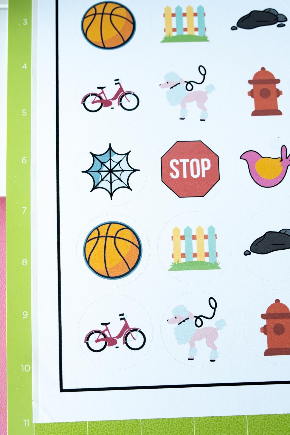 stickers cut on the Cricut Maker