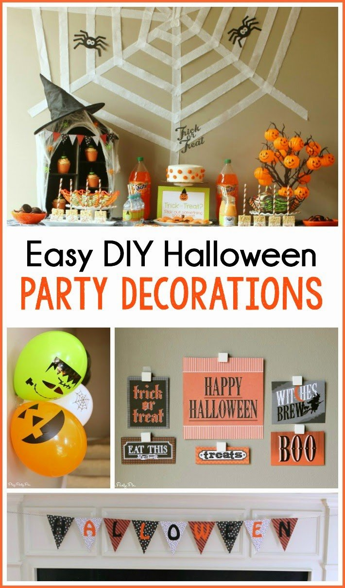 Easy DIY Halloween party decoration ideas to take your Halloween party from horrible to hauntingly great
