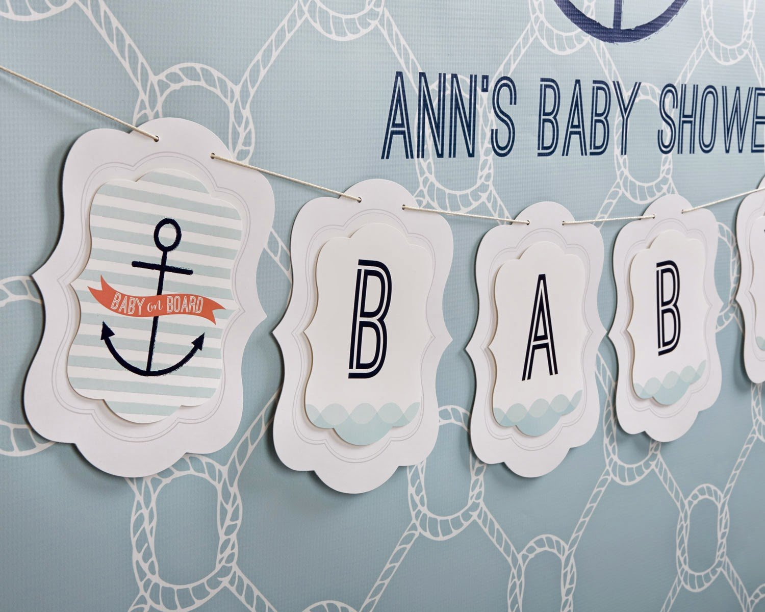 Baby on Board Nautical Baby Shower - Play.Party.Plan