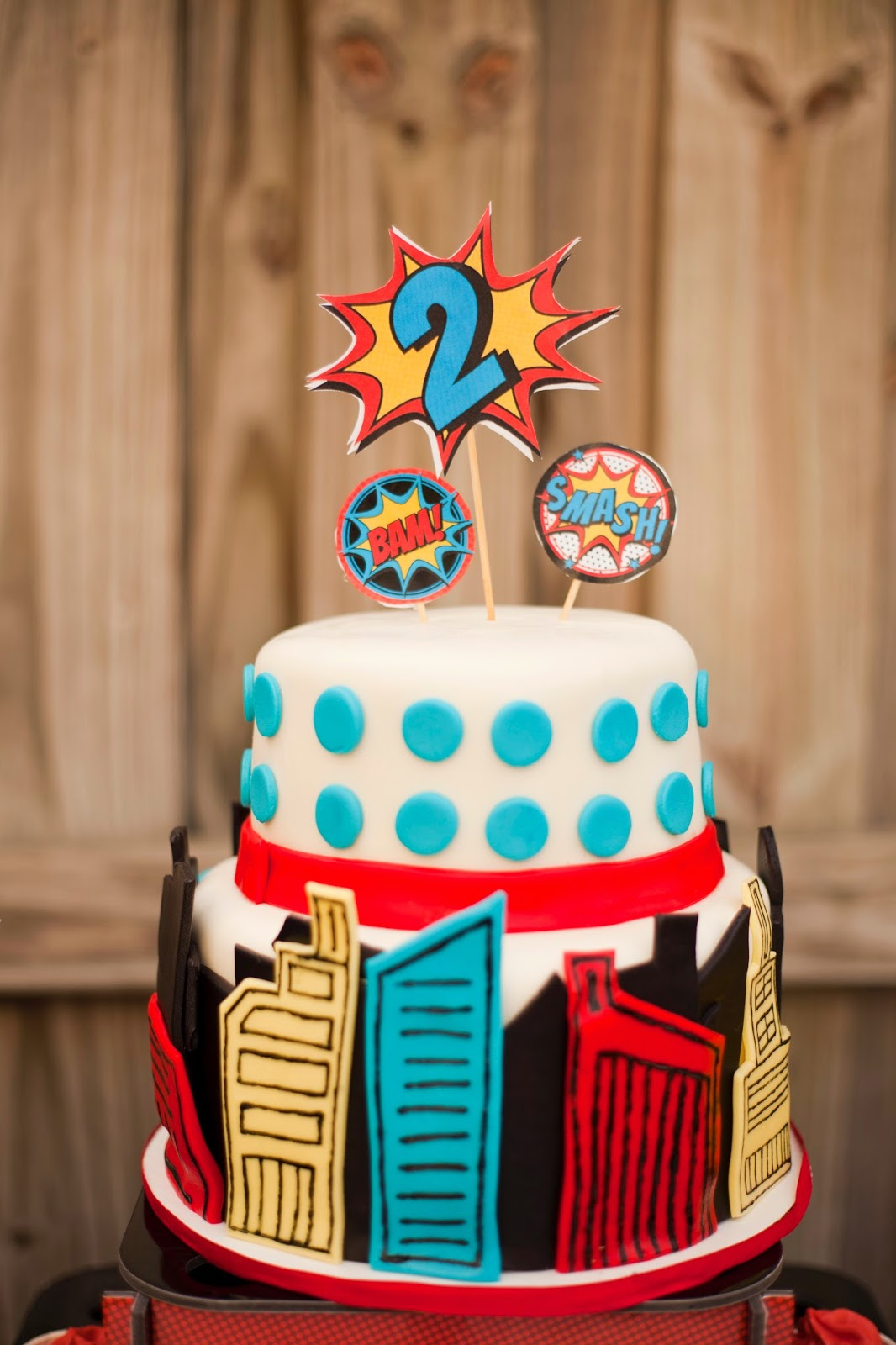 Superhero cake idea