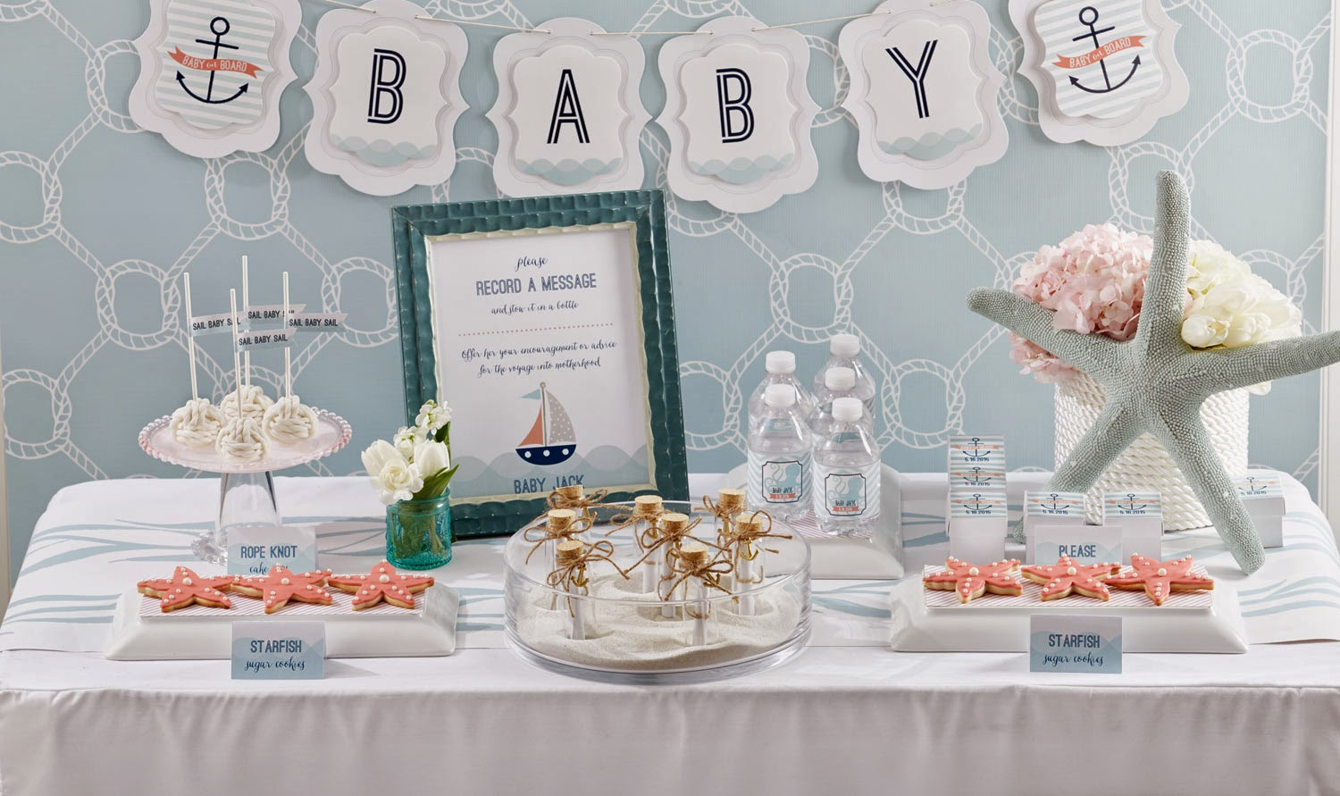 Baby on board nautical baby shower play party plan - Deco baby shower garcon ...